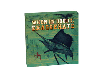 "Rivers Edge ""Exaggerate"" Lighted Box Sign"