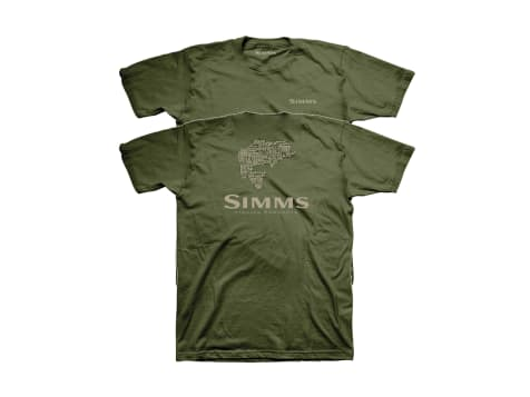 Simms Bass Stacked Typo Logo T-Shirt