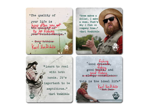 Karl's Bait & Tackle Inspirational Coasters
