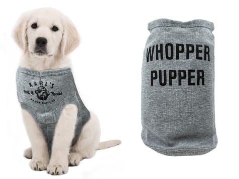 Karl's Bait & Tackle Whopper Pupper Dog Shirt