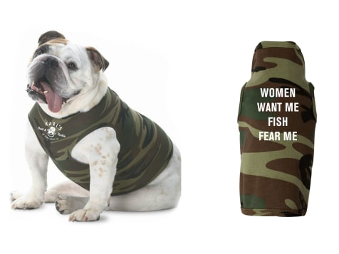 Karl's Bait & Tackle Fish Fear Me Dog Shirt