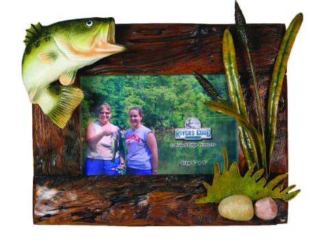 Rivers Edge Wood Bass Picture Frame