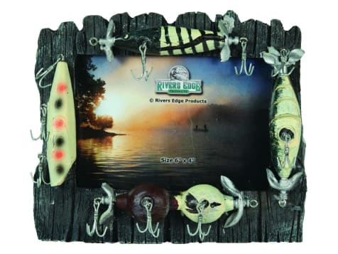 Rivers Edge Fishing Lures Picture Frame