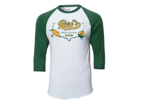 Karl's Bait & Tackle Spring Training Baseball T-shirt