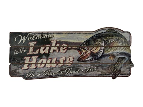 Rivers Edge Welcome To The Lake Wood Sign