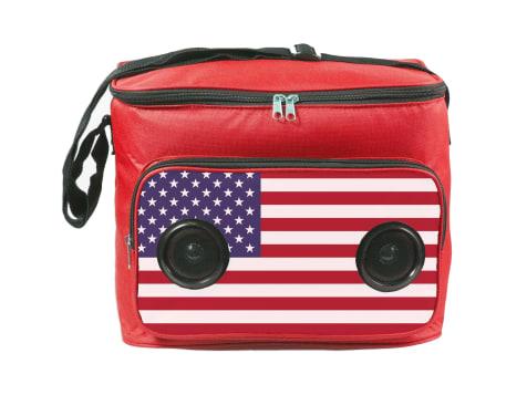 Gabba Goods American Flag Bluetooth Speaker Cooler Bag