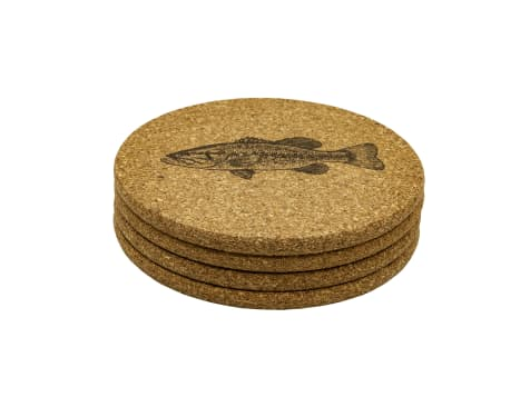 Magic Pine Outfitters Freshwater Fish Series Coasters - 4pack