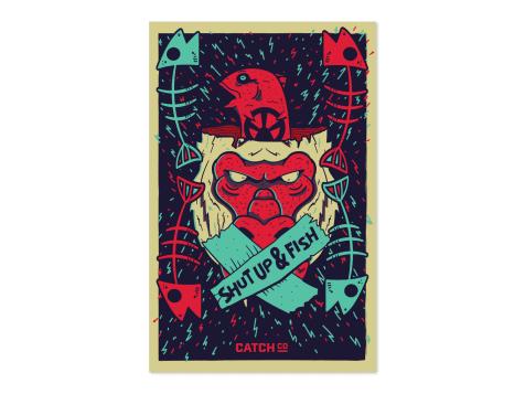 Shut Up & Fish Poster
