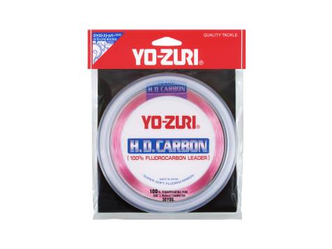 Yo-Zuri HD Pink Disappearing Flourocarbon Leader Line