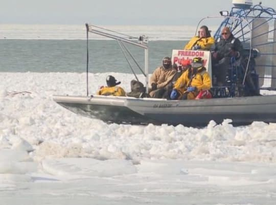 46 Anglers Got Stuck On A Floating Chunk Of Ice (Rescued By Coastguard)