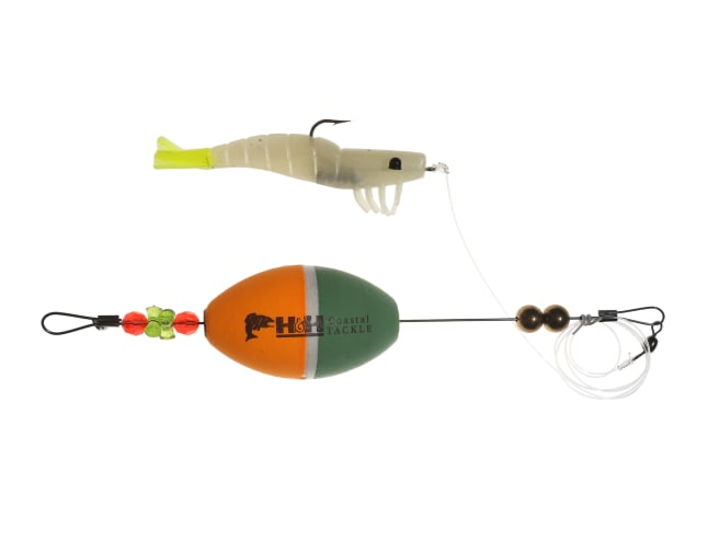 H&H Lure Company TKO Shrimp Float Rig Combo Oval Cork