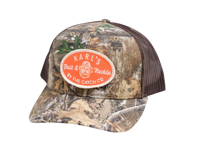 Karl's Bait & Tackle Camo Snapback Hat