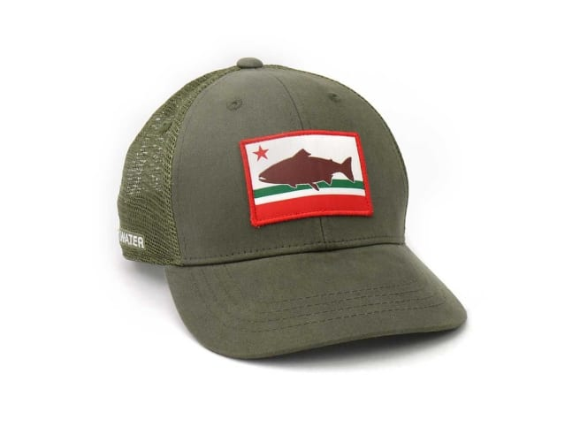 California Republic Trout Mesh Snapback Hat