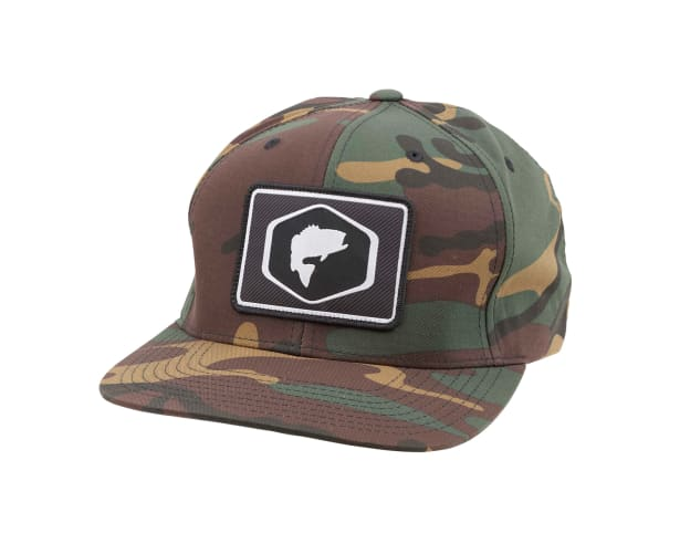 Simms Patch Woodland Camo Snapback Hat