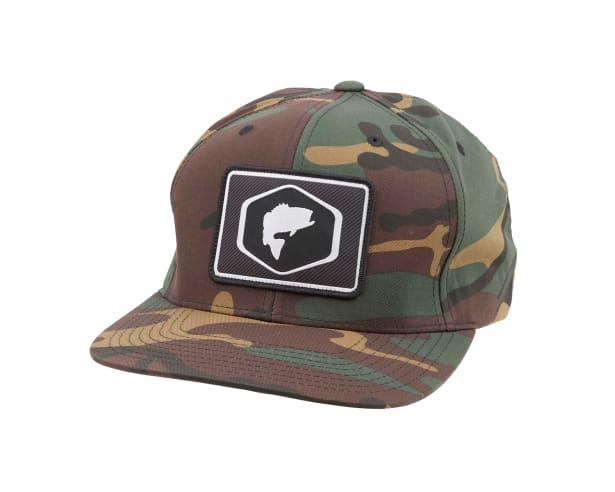 57d4665fa4b Simms Patch Woodland Camo Snapback Hat