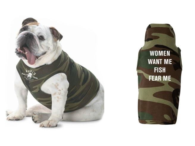 Karl's Bait & Tackle Fish Fear Me Dog Shirt
