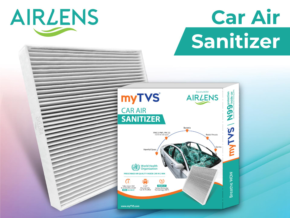 Buy the best car air purifier - myTVS Airlens car purifier/ / car air sanitizer. Order online, available at lowest price, fast delivery.