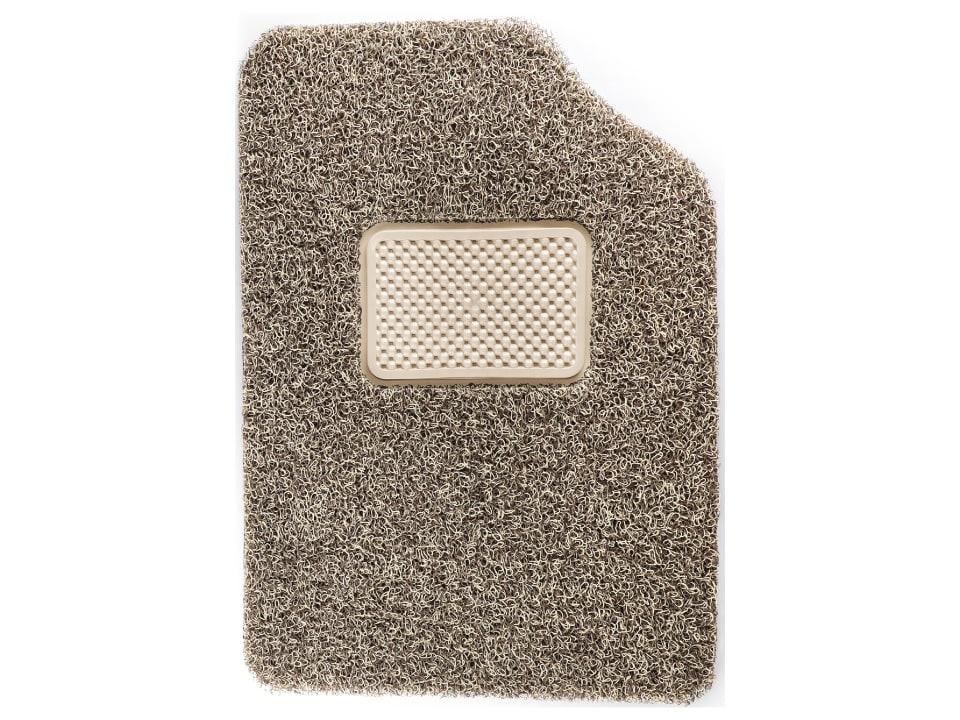 CFM-1 Anti Skid Coil Floor Mats - Beige + Brown
