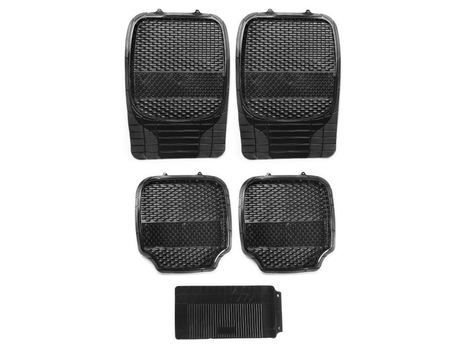 Buy online myTVS Universal PVC 4D Bucket Car Floor Mat Black at low price
