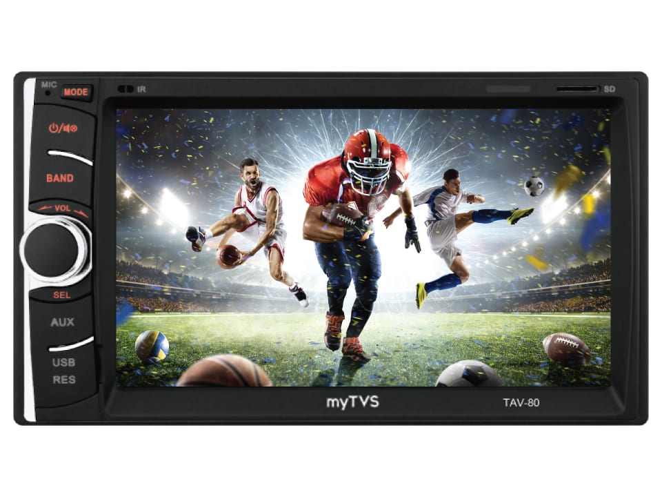 Immersive audio-video experience with myTVS TAV-80  Touch Screen Car Stereo Multi-Media Player