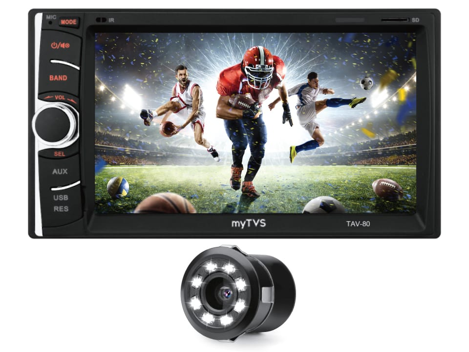 Entertain your senses with myTVS TAV-80, Touch-Screen Multimedia Player with Dual Display Support