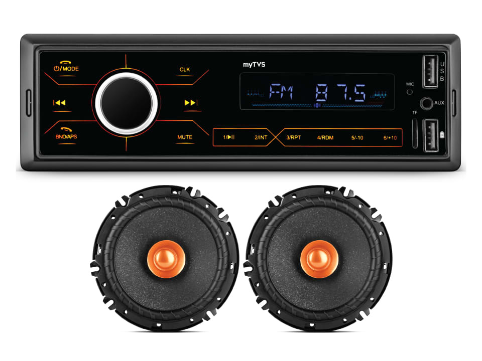 myTVS MP-T1_SDC61 Combo Dual USB Touchscreen MP3 Player/ car stereo/ music player & dual cone Car Speakers