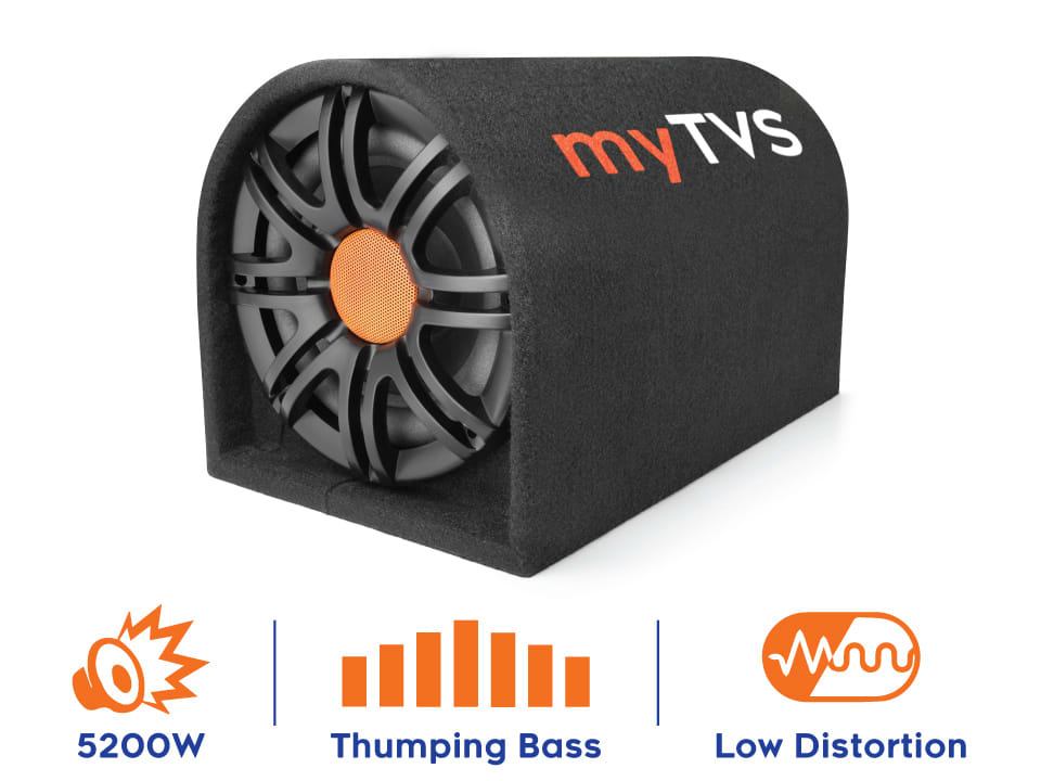 Buy online myTVS TBT 8- Car Subwoofer Active Bass Tube at Lowest Price.