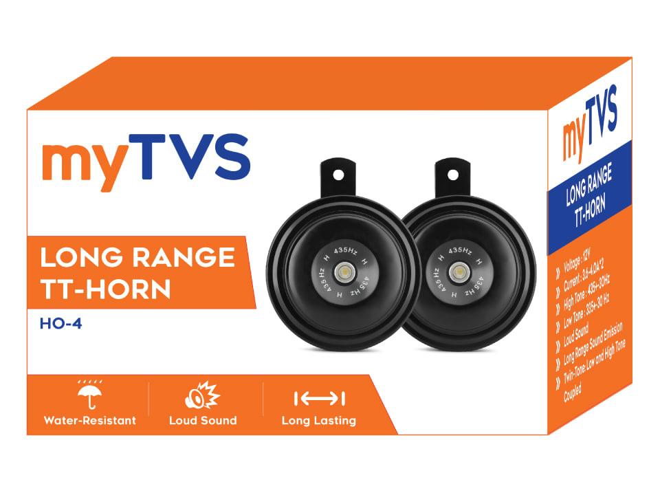 Enjoy safe driving with myTVS HO-4 long range Car/Bike Horn set of 2