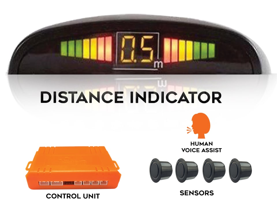 Buy online myTVS TPS-38 Voice Assist Parking Sensor, Black at Lowest Price
