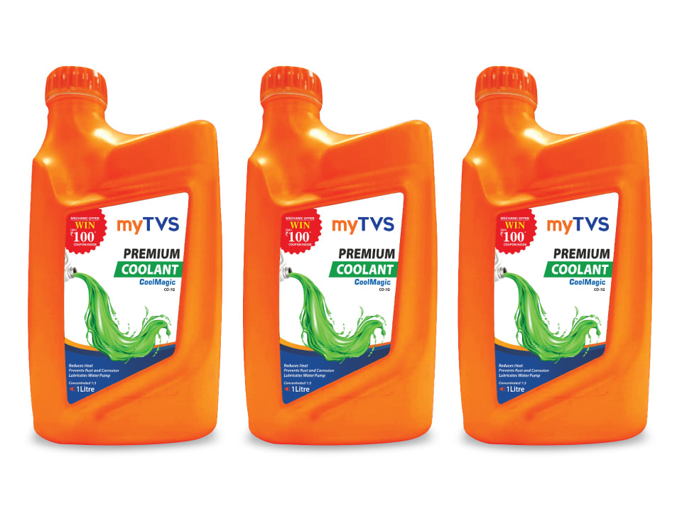 Buy the most reliable coolant for your car, myTVS CO-1G Premium CoolMagic Coolant.
