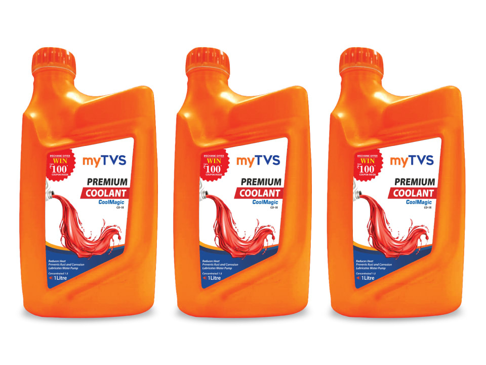 Buy the most reliable coolant for your car, myTVS CO-1R Premium CoolMagic Coolant.