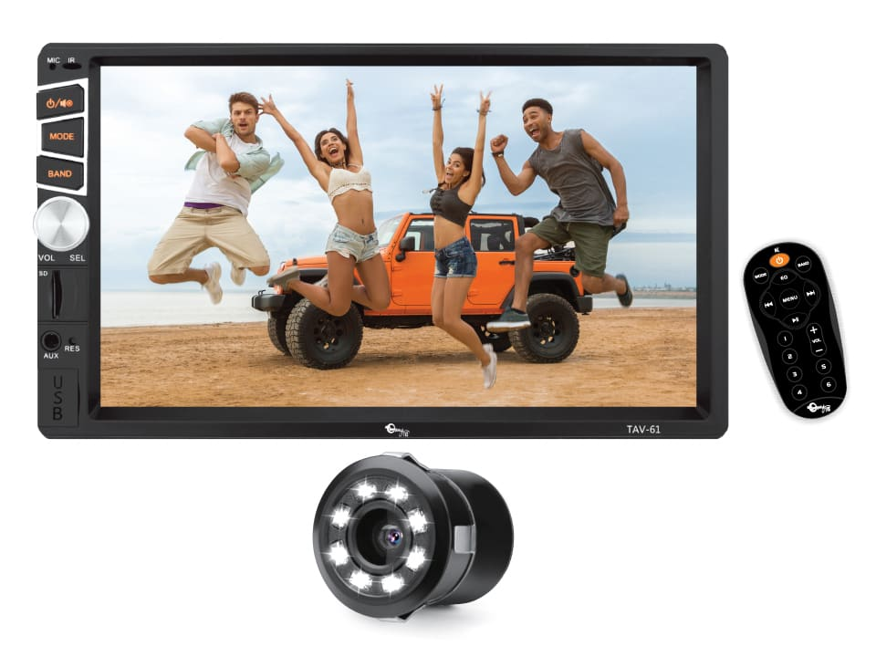 Entertainment on the go with myTVS TAV-61M Car Audio Video Touch Screen Stereo for your car.