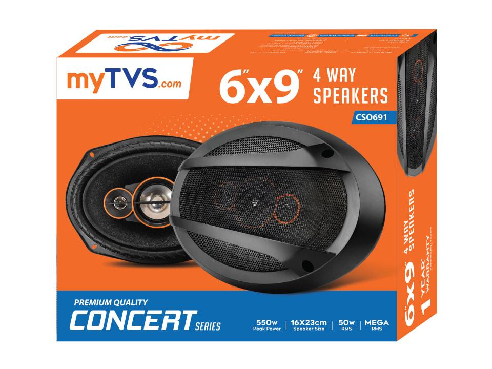 Elegant designed myTVS CSO691 6x9 inch Oval Woofer Cone Car Speakers