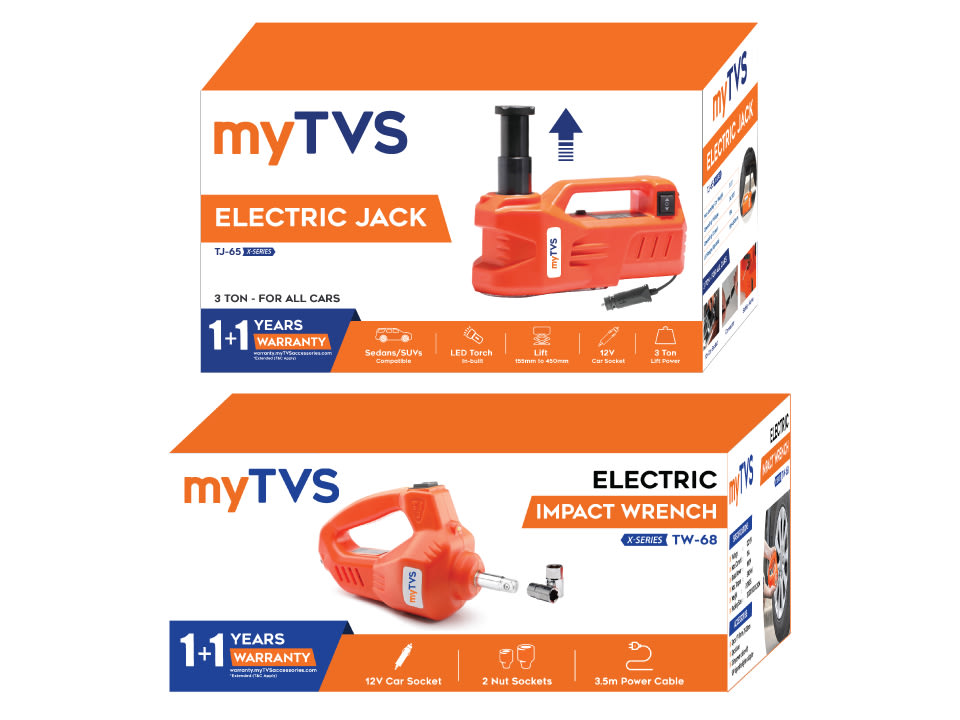 Buy online myTVS TJ-65 3 Ton Car Electric Jack with TW-68 Electric Wrench for All Cars