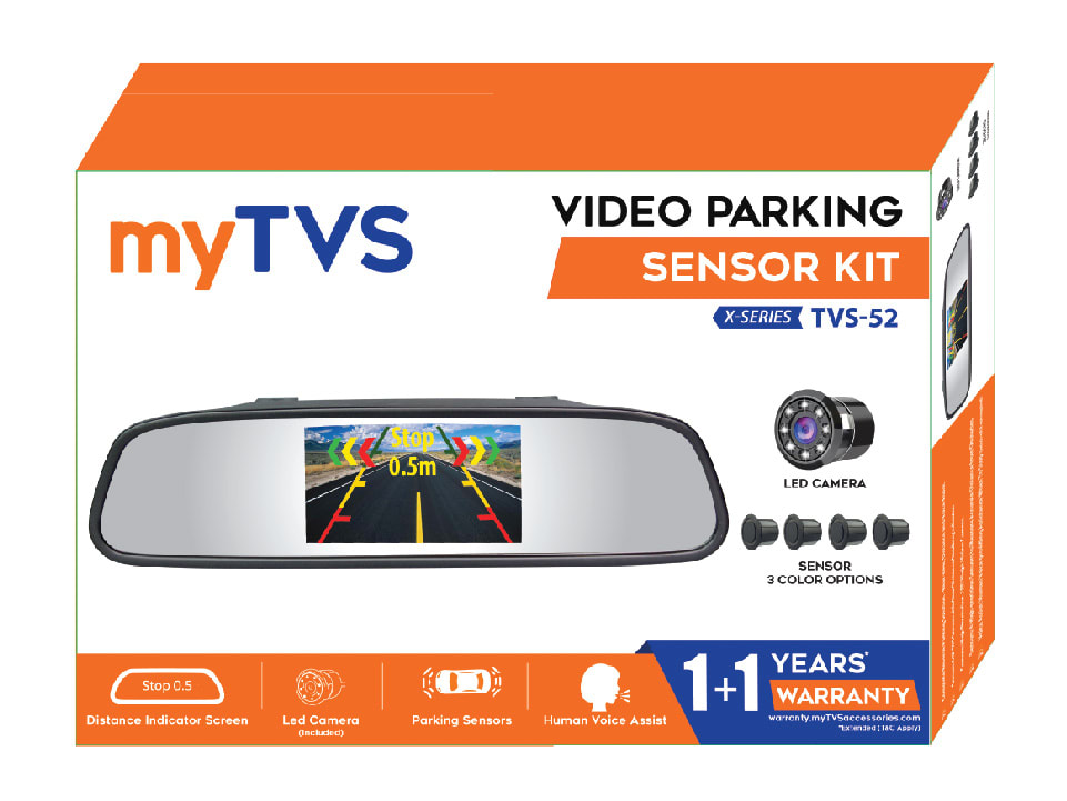 Buy online myTVS-52B Video Parking Screen, Camera, and Sensor-Silver at lowest price.