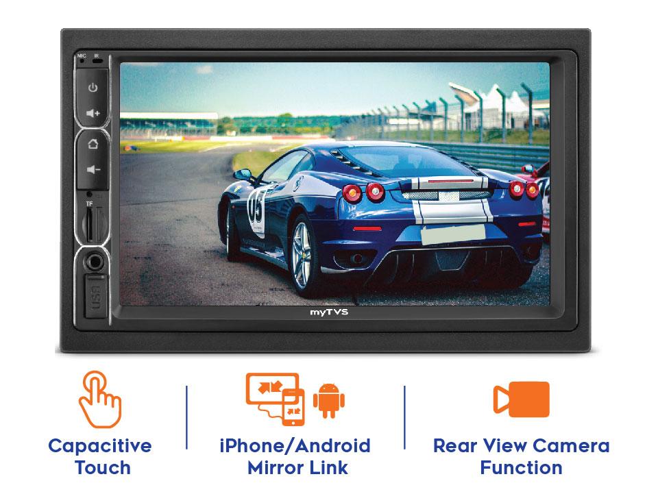 myTVS AV-E1 E-Series 7 Inches Touch screen Car Audio Video Player