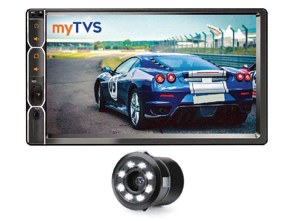 myTVS AV-E1 E-Series 7 Inches Touch screen Car Audio Video Player & RC_23 LED Night-Vision Rearview Cameras