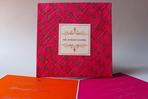 Grandiose pink invite wedding card