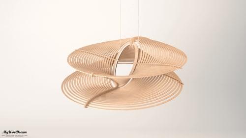 lampe design paramétrique en bois mywoodream