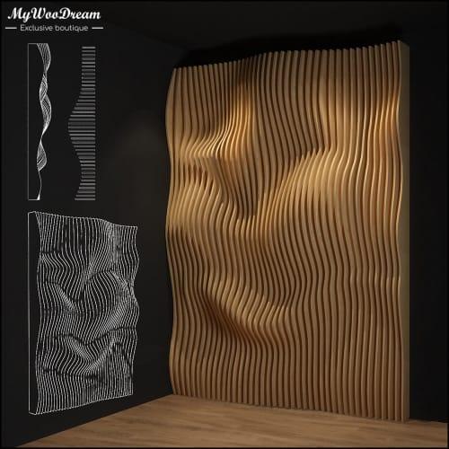 panneau mural décoratif paramétrique en bois mywoodream