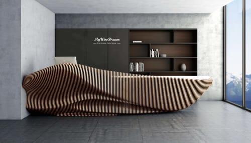 comptoir d'accueil design en bois mywoodream