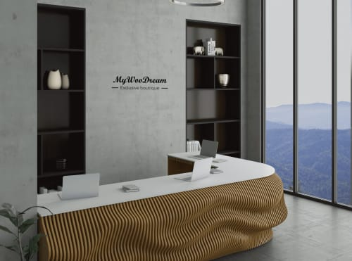 comptoir d'accueil design en angle mywoodream