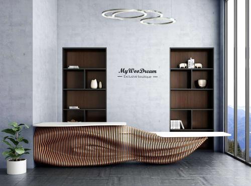 comptoir d'accueil design accessibilité pmr mywoodream