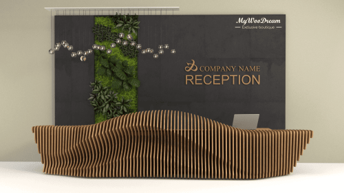 comptoir d'accueil design paramétrique mywoodream