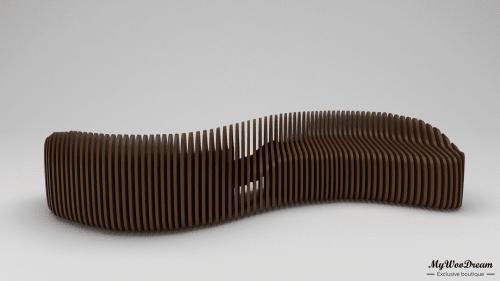 banquette paramétrique en bois mywoodream