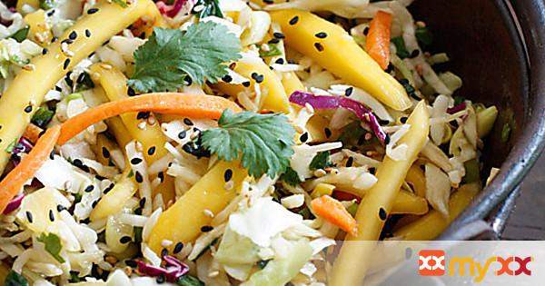 Asian Cabbage Mango Slaw