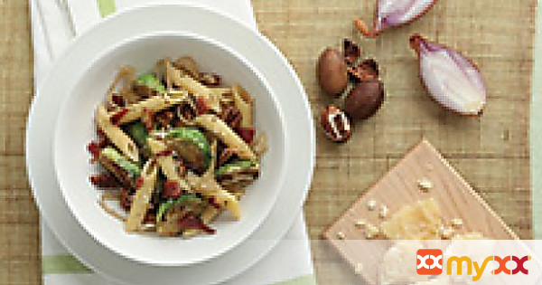 Bacon and Brussels Sprouts Penne