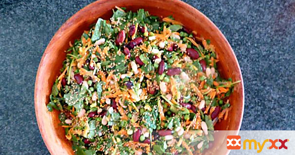 Bean Salad with Mint Dressing