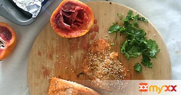 Blood Orange Sesame Salmon