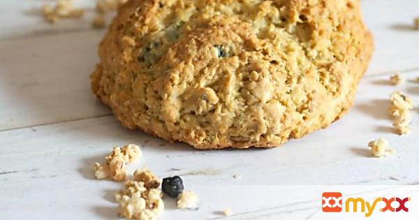 Blueberry Granola Soda Bread